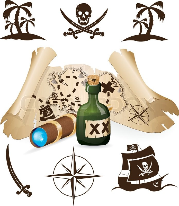 Skive Søsports Havn - image 5293463-treasure-map-pirate-collection on https://www.vildmedvand.dk