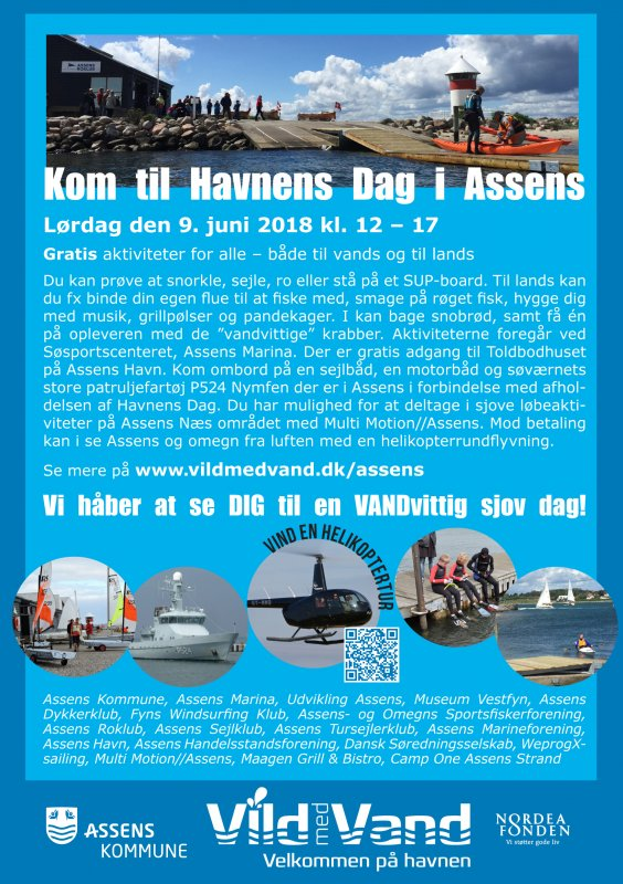Helikopterrednings demonstration med Eskadrille 722 d. 9. juni - image Plakat-for-Havnens-Dag-2018-1 on https://www.vildmedvand.dk