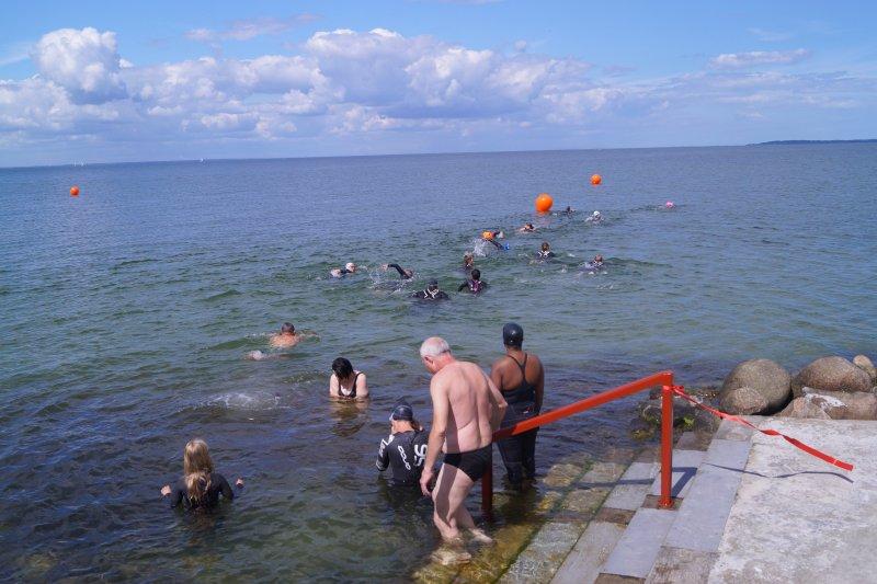 Svømning på havsvømmebane 1