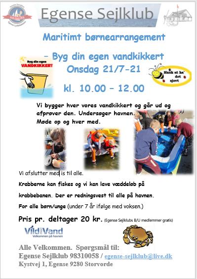 ES - Maritimt børne arrangement – Byg din egen vandkikkert 1