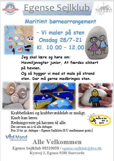 ES - Maritimt børne arrangement – Vi maler på sten 1